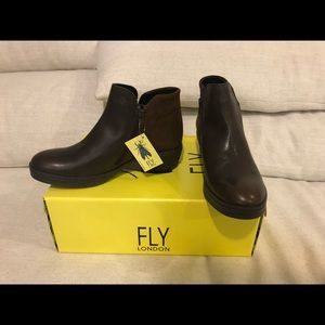 NEW fly London cled brown ankle boots size 38 8